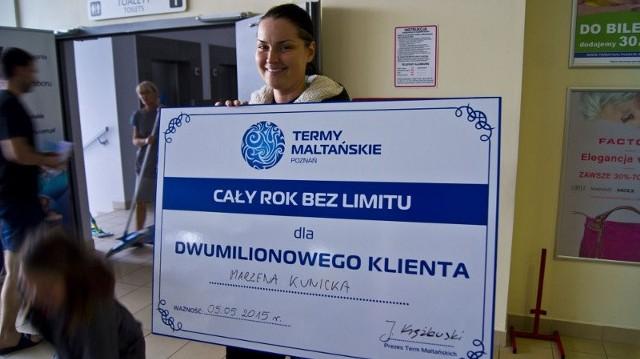 Marzena Kunicka jest dwumilionowym klientem Term Maltańskich