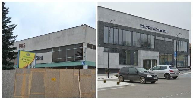 Budynek dworca PKS w Wysokiem Mazowieckiem nie budzi już skojarzeń z PRL
