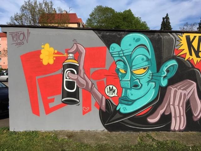Murale Petiona w Kluczborku