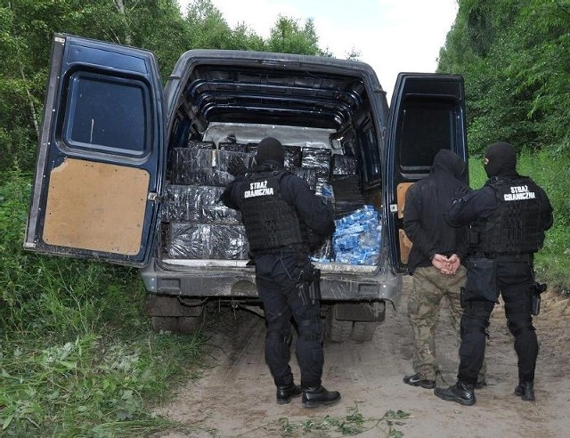 Akcja zatrzymania przemytników w okolicy Wólki Żmijowskiej.
