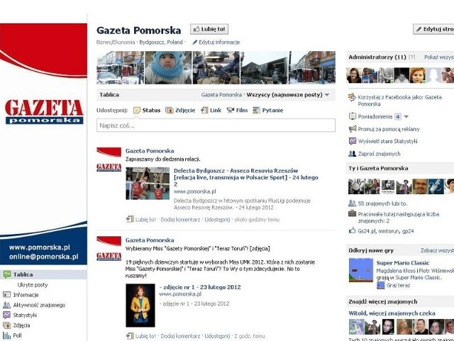 """Fan Page """"Gazety Pomorskiej"""""""