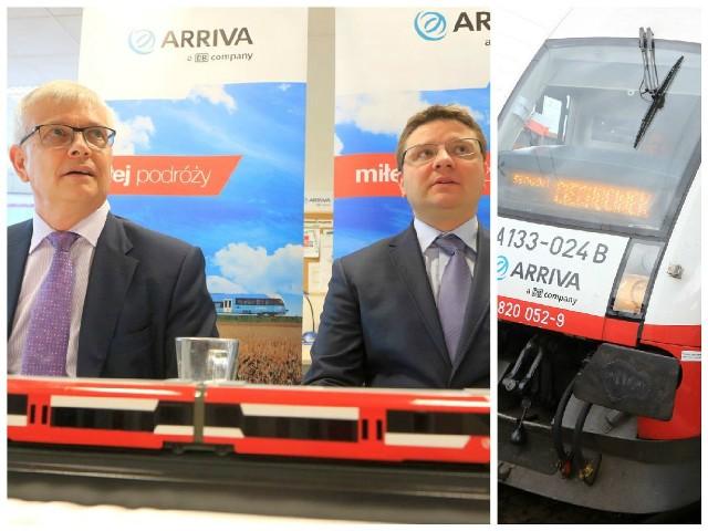 Gościem uroczystości przeniesienia siedziby Arrivy RP do Torunia był m.in. Robin Barnett (od lewej), ambasador Wielkiej Brytanii i Irlandii Północnej. Po prawej: Damian Grabowski, prezes Arrivy.