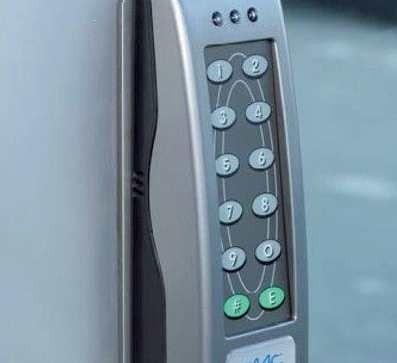 Terminal Minitime sterowany kodem lub kartą zblizeniową