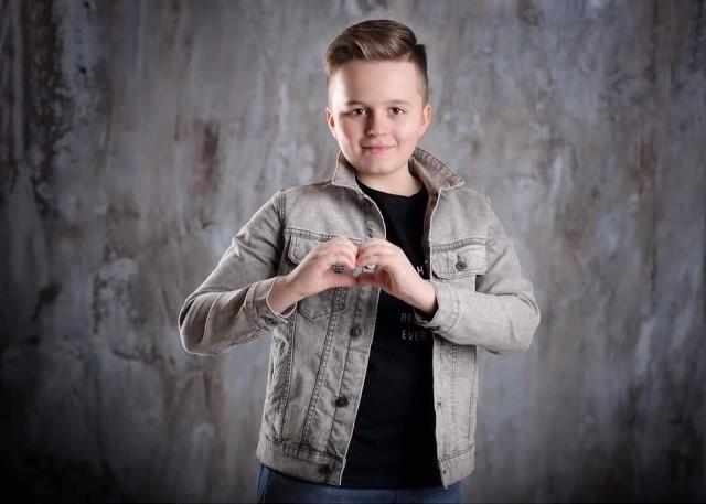 """Mikołaj Jabłoński z Konojad bardzo chciał wziąć udział w programie """"The Voice Kids"""""""