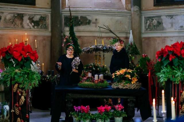 Niezwykły pokaz florystyczny na zamku w Niemodlinie.