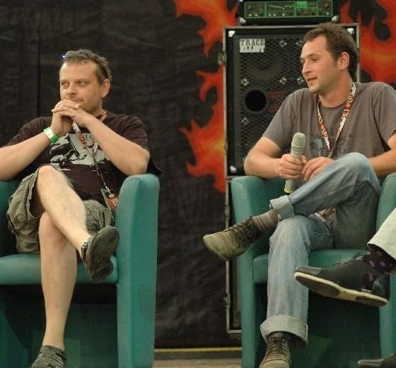 Dziś w ASP woodstockowicze gościli Leszka Gnoińskiego i Wojciecha Słotę