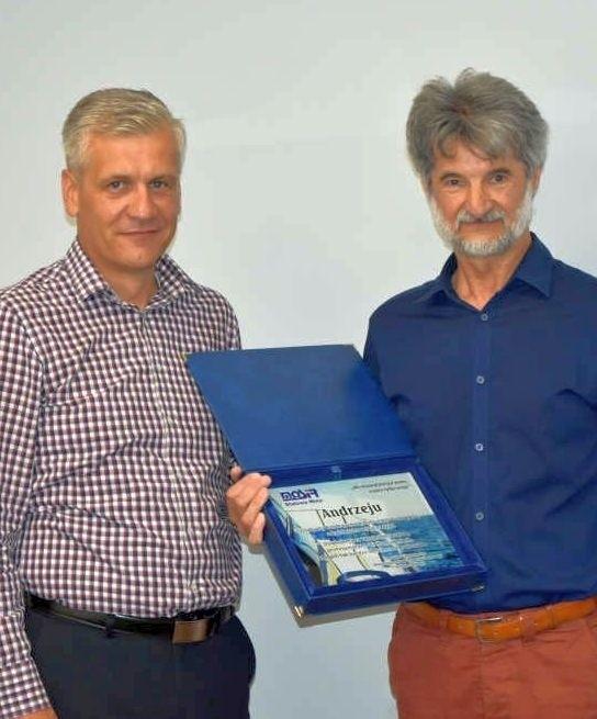 Andrzej Chmielewski (z prawej) i dyrektor Grzegorz Domański