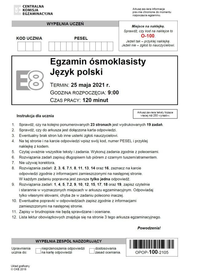 ODPOWIEDZI do egzaminu ósmoklasisty 2021 z polskiego >>>Odpowiedzi pojawiały się na bieżąco, po godz. 13, gdy CKE opublikowało arkusz.