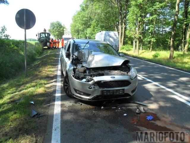 Dwie osoby zostały ranne w wypadku na dk 46.