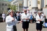 """Strajk ostrzegawczy pielęgniarek i położnych w całej Polsce. """"Nie godzimy się na minimalne płace, na minimalne normy, albo wręcz ich brak"""""""
