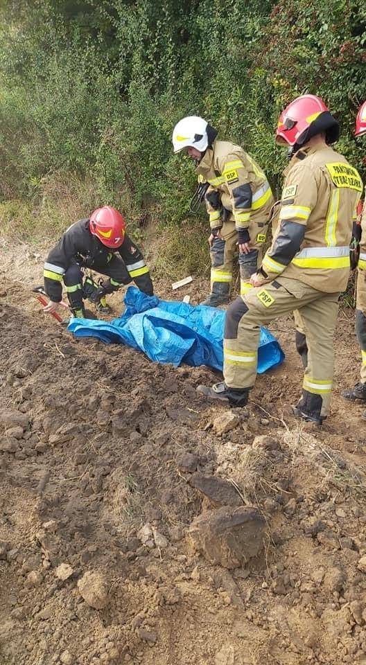 Rozszczelniony gazociąg w gminie Iwanowice