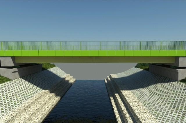 Nowy most będzie miał dwa pasy ruchu i obustronne chodniki.