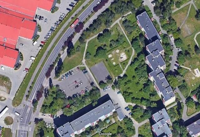 Pomiędzy blokami a ul. Rogowską ma powstać parking