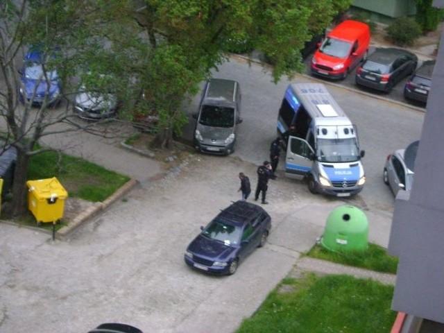 Akcja policji przy ulicy Bolesławieckiej we Wrocławiu