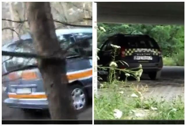 Auta zielonogórskiej straży miejskiej nagrane przez pana Andrzeja.