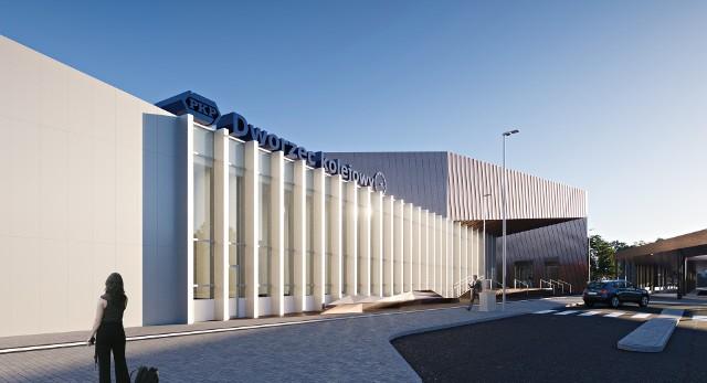 Nowy trzykondygnacyjny dworzec kolejowy we Włocławku będzie miał długość 91 m i szerokość 24 m
