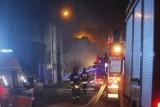 Pożar na Trębackiej w Łodzi. 9 osób ewakuowanych z budynku [ZDJĘCIA+FILM]