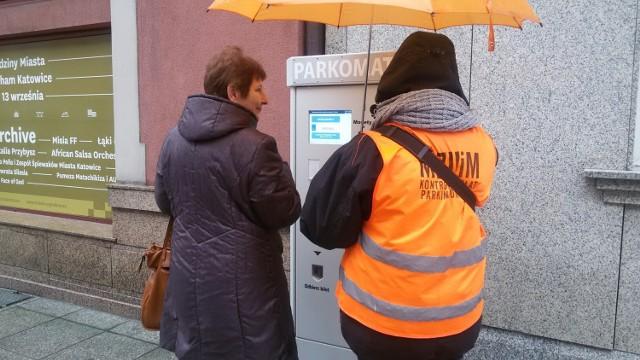 Parkomat w centrum Katowic