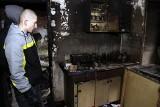 Gdańsk: Pożar budynku w Letnicy, jedna osoba poparzona (ZDJĘCIA)