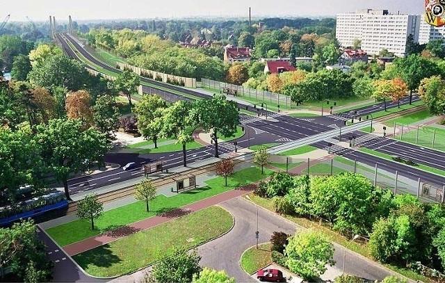 Most Wschodni miał połączyć ul. Krakowską z Biskupinem i Sępolnem. To wizualizacja skrzyżowania z ul. Olszewskiego