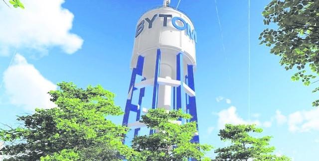 Jedna z wersji wieży już po odmalowaniu. Będzie też specjalne oświetlenie