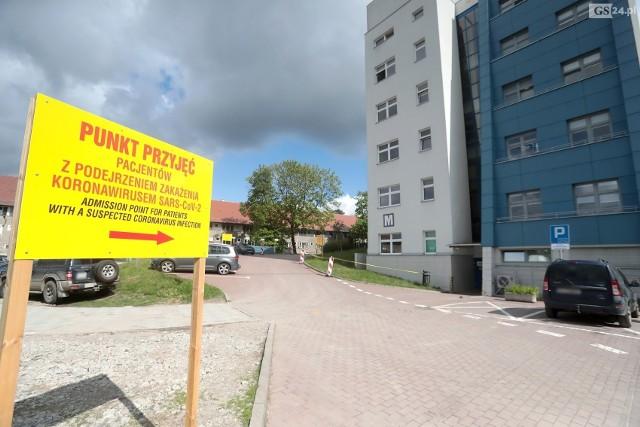 Szpital przy ul. Arkońskiej w Szczecinie.