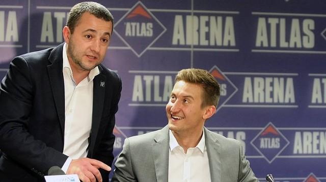 Prezes Marcin Chudzik i trener Błażej Krzyształowicz
