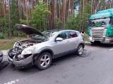 Groźny wypadek na trasie nr 20 Bytów - Kościerzyna. Karambol 5 aut!