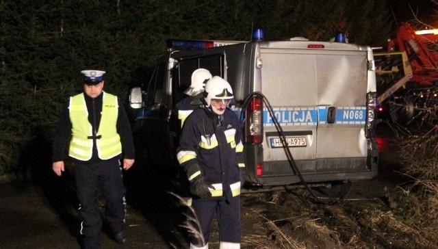 Wypadek w Wiślince. Zderzyły się policyjny radiowóz i ciężarówka [1.02.2016 r.]