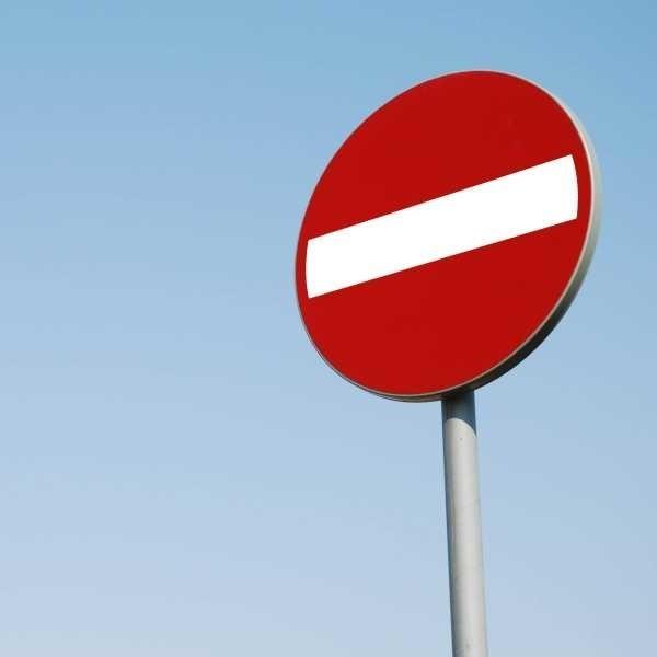 Z powodu prac niektóre drogi zostały wyłączone z ruchu.