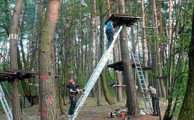 Park linowy w Grabówkach ma zostać otwarty za około trzy tygodnie FOT. JOLANTA BIAŁEKK