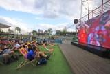Strefa Kibica Libero Katowice: Fani na telebimie oglądali pierwsze mecze fazy pucharowej Euro 2020 ZDJĘCIA