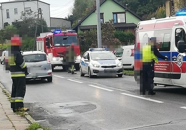 Wypadek na Radlińskiej w Wodzisławiu Śl.