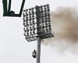 Fortuna 1 Liga. Na stadionie palił GKS Bełchatów się jupiter. Mecz opóźniony