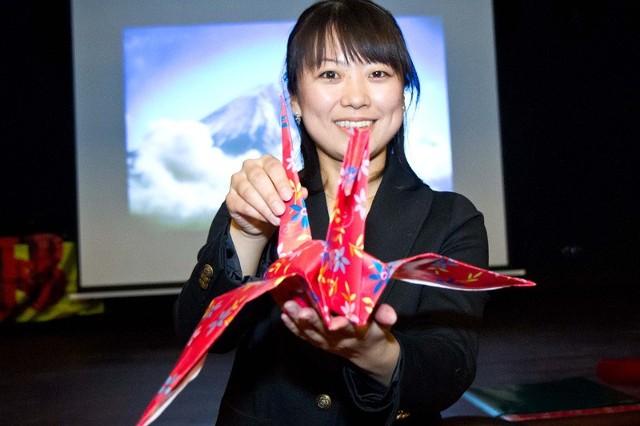 Kayo Takase z Japonii w trakcie warsztatów.