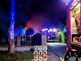 Pożar w masarni pod Strzelinem. Budynek spłonął doszczętnie. Zobaczcie zdjęcia z akcji gaśniczej