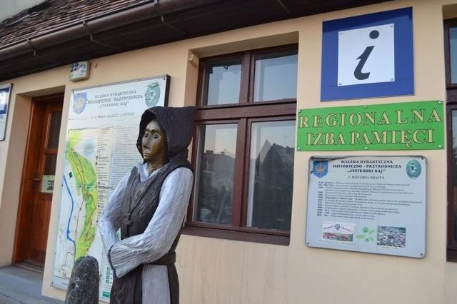 Na trasie  izba muzealna w Punkcie Informacji Turystycznej w Koronowie.
