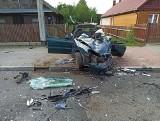 Śmiertelny wypadek w Nowosadach. Lanos całkowicie zmiażdżony. Strażacy opublikowali zdjęcia z makabrycznego wypadku (zdjęcia)