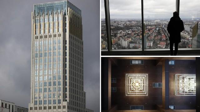 Wieżowiec Unity Tower ma 102,5 metra wysokości. Na szczycie jest taras widokowy, z którego można podziwiać panoramę Krakowa.