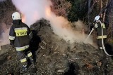 Pożar drewnianej stodoły w powiecie bialskim. Kilka zastępów walczyło z ogniem