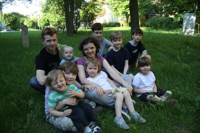 Lubelska rodzina Jamrozów liczy dziesięć osób