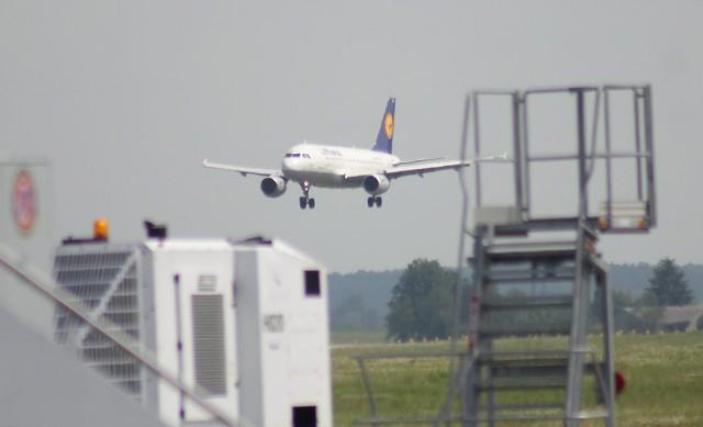 Pierwszy lot z Lublina do Frankfurtu.