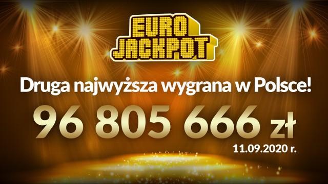 Wielka wygrana w Eurojackpot w Polsce.  96 805 666,90 zł! Szczęśliwe liczby
