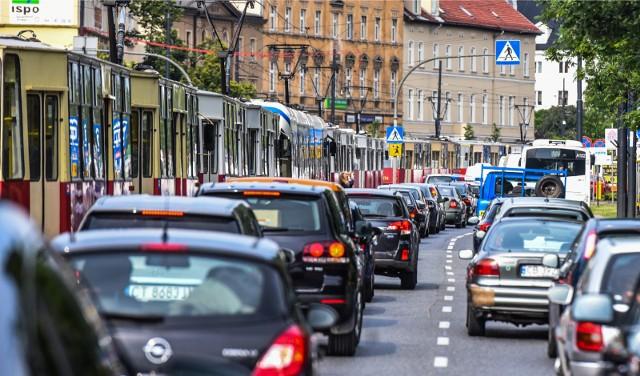 Korki mogą się tworzyć na ul. Jagiellońskiej aż do godz. 16