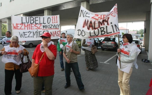 Pracownicy Malmy protestowali niedawno przed sądem  w Gdańsku