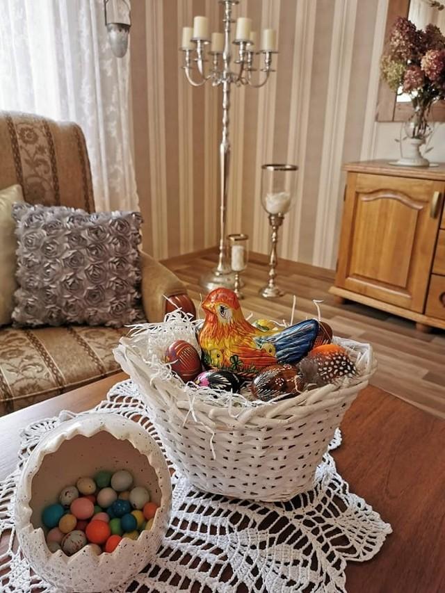 Wielkanocne koszyki pań z KGW w Borowym Młynie