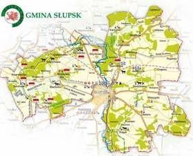 Mapa gminy Słupsk