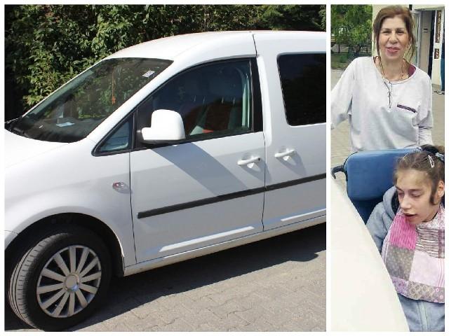 Tak wyglądał skradziony Volkswagen Caddy, którym Wioletta Baran woziła na rehabilitację niepełnosprawną córkę.
