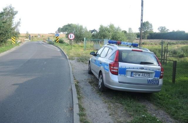 Teren w pobliżu znaleziska zabezpieczała policja