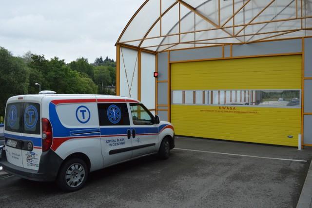 W Szpitalu Śląskim w Cieszynie funkcjonuje jedynie transport samochodowy